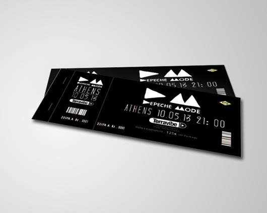 Perfect Ticket Designs Inside Concert Ticket Design