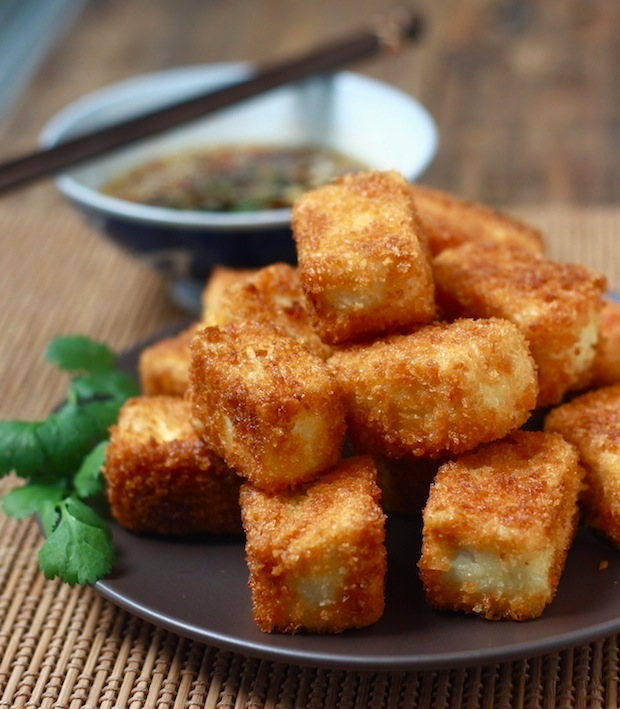 Since the texture of tofu is so soft, I always make my fried tofu ...