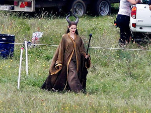 Angelina Jolie 'Fully Staffed' on the Set of Maleficent: Photo