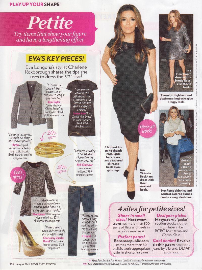 Eva Longoria's Petite Style In People Style Watch