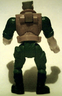 Back of Major Chip Hazard action figure from Burger King 1998