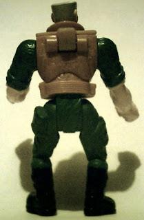 Back of Major Chip Hazard action figure from Burger King 1998