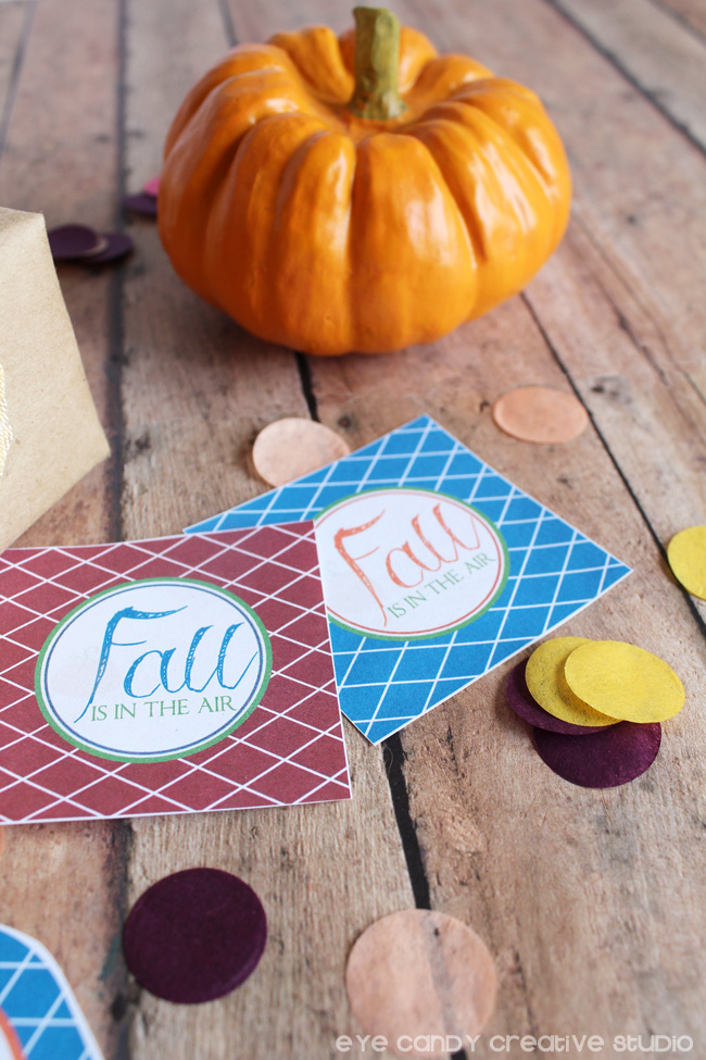 fall toppers, confetti, fall colors, free gift tags, free toppers, free download