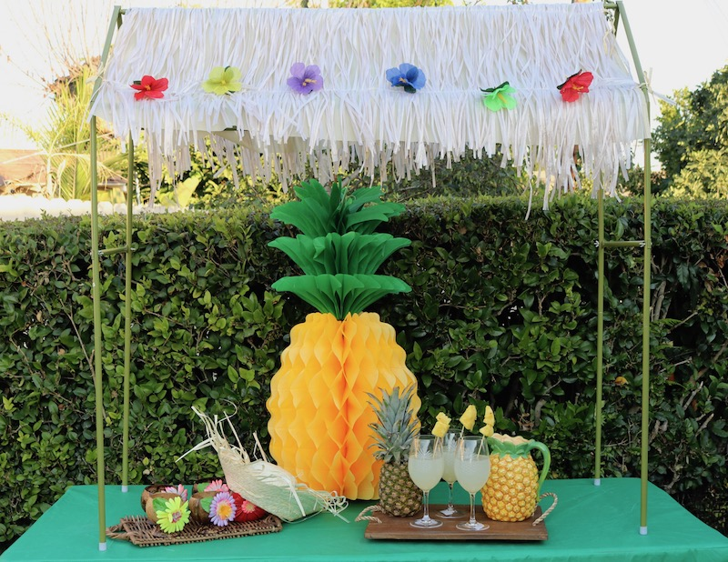 A Tiki Bar Is Always A Good Idea! Use The Tabletop Tiki Hut For A Festive  Way To Serve Those Party Sips. Cover Your Table With A Green Tablefitters  Table ...