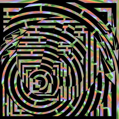bitcoin maze art psychedelic pattern