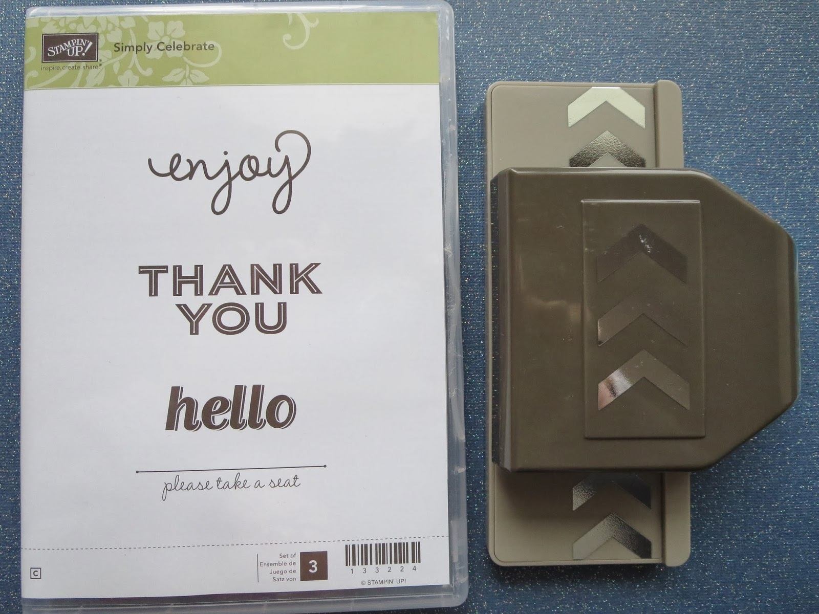 "fresh crafts blog - Stampin' Up ""Simply Celebrate"" and chevron border punch"