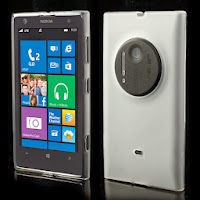 Frosted TPU Jelly Case for Nokia Lumia 1020 - White