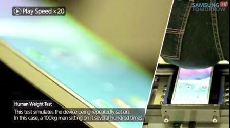 Video, Samsung Galaxy Note 4 uji bengkok dengan berat 100Kg