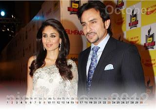 Beautiful Kareena Kapoor Desktop Calendar 2012