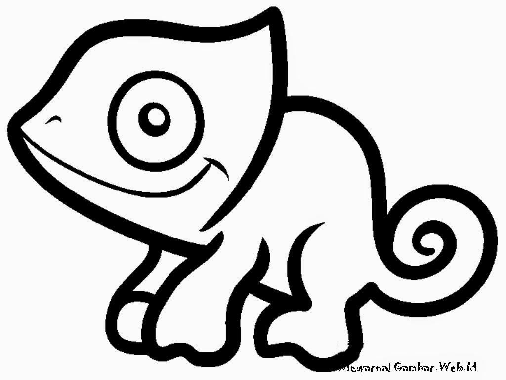 Mewarnai Gambar Iguana