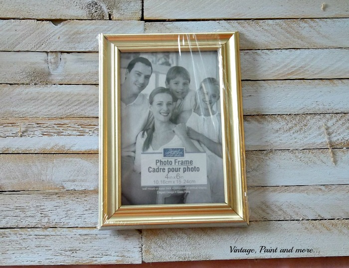 Vintage, Paint and more... gold frames used on wall art, Dollar Store frames used in art
