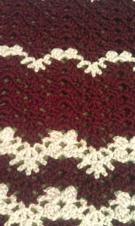 Crochet Afghan stitches up close