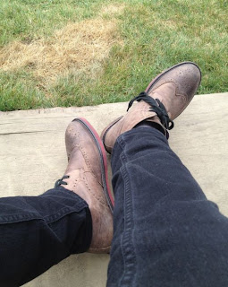 Greyson Chance old leather Shoes in Vancouver Canada