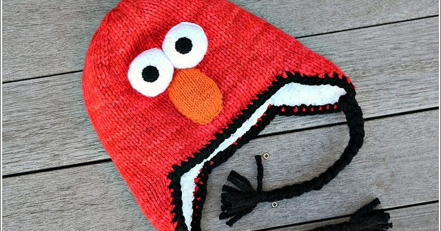 Small Packages Knits Elmo Hat