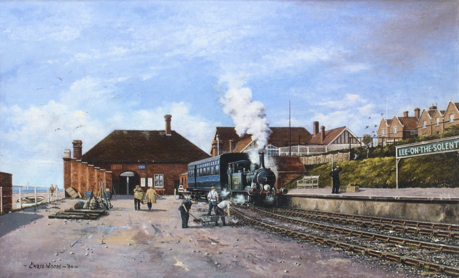 Painting of Lee on Solent