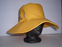 wide brimmed gold linen