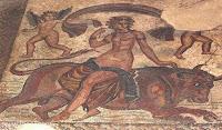 Mosaico romano del periodo imperial.  Museo arqueológico de Esparta