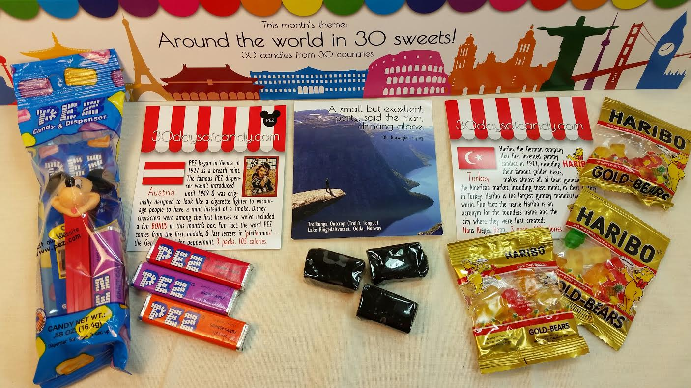 Candy from around the world box