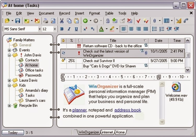 WinOrganizer 4.4 Free License Key