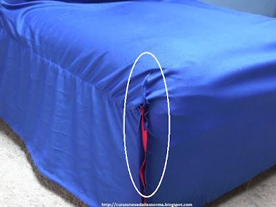 Costura del frente de la funda para sofá