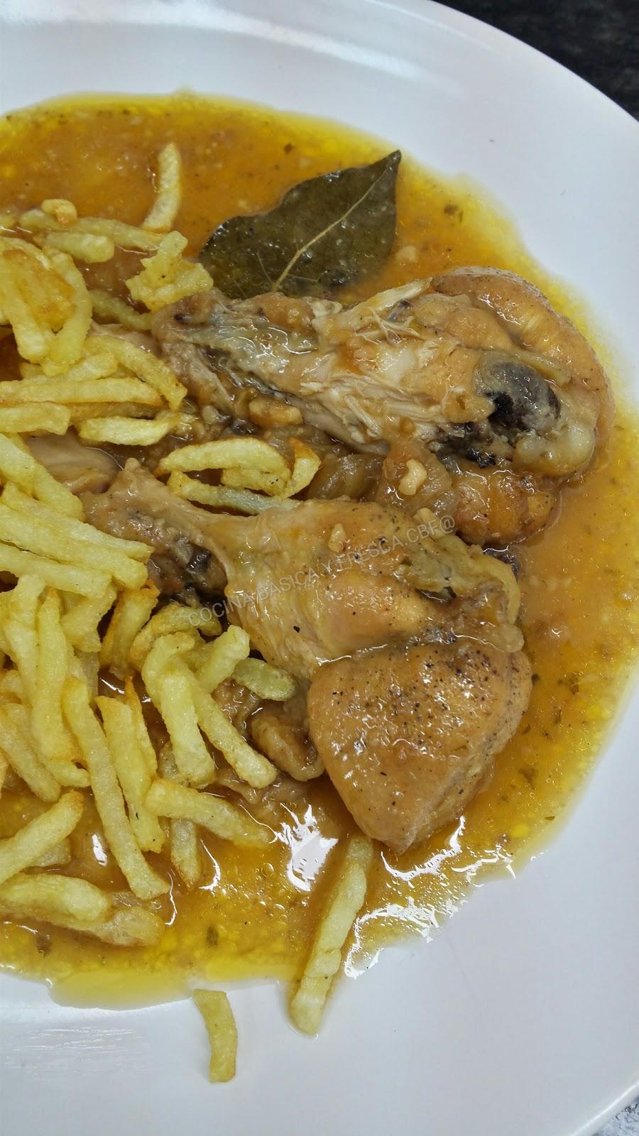 Cocina basica y fresca muslitos de pollo en salsa a la - Muslitos de pollo ...