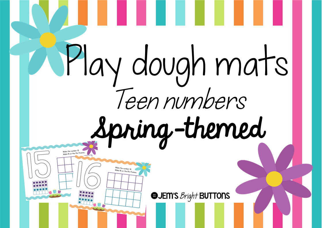 https://www.teacherspayteachers.com/Product/Play-dough-mats-teen-numbers-spring-themed-print-font-1774954