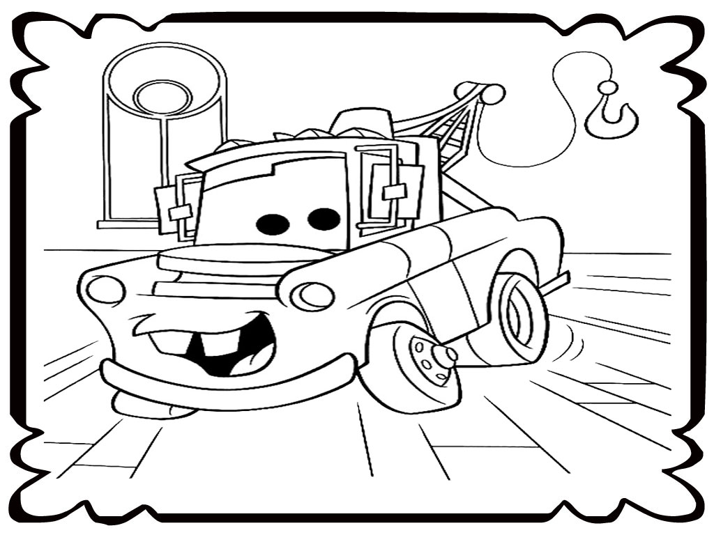 mater tow truck coloring pages realistic coloring pages