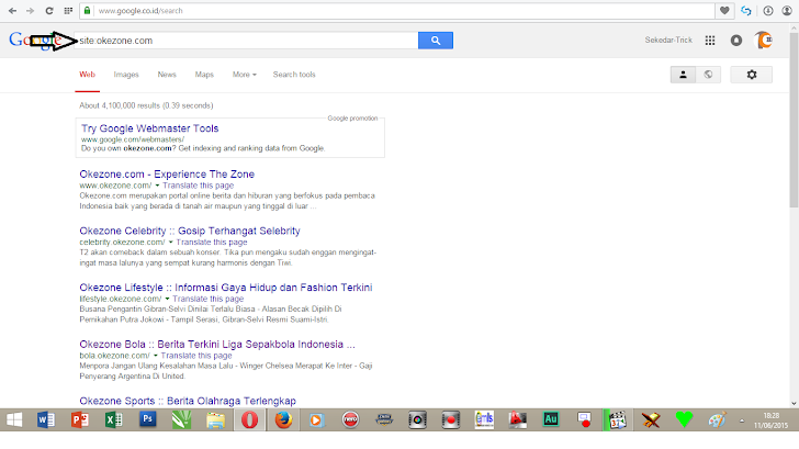 Tips Pemeriksaan performa Website di Search Engine Google