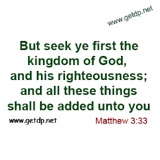But seek ye first the kingdom of god and his righteousness and all