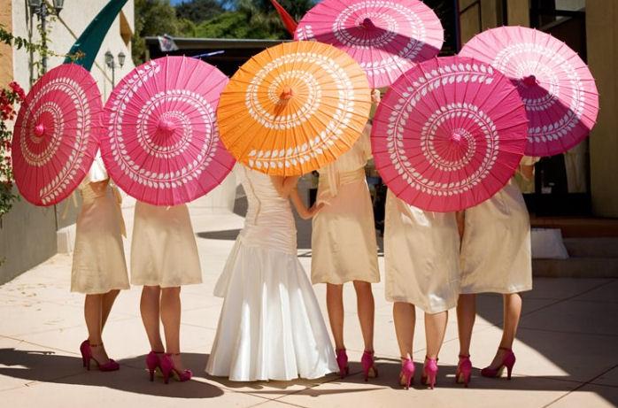 Свадебный зонт своими руками 100