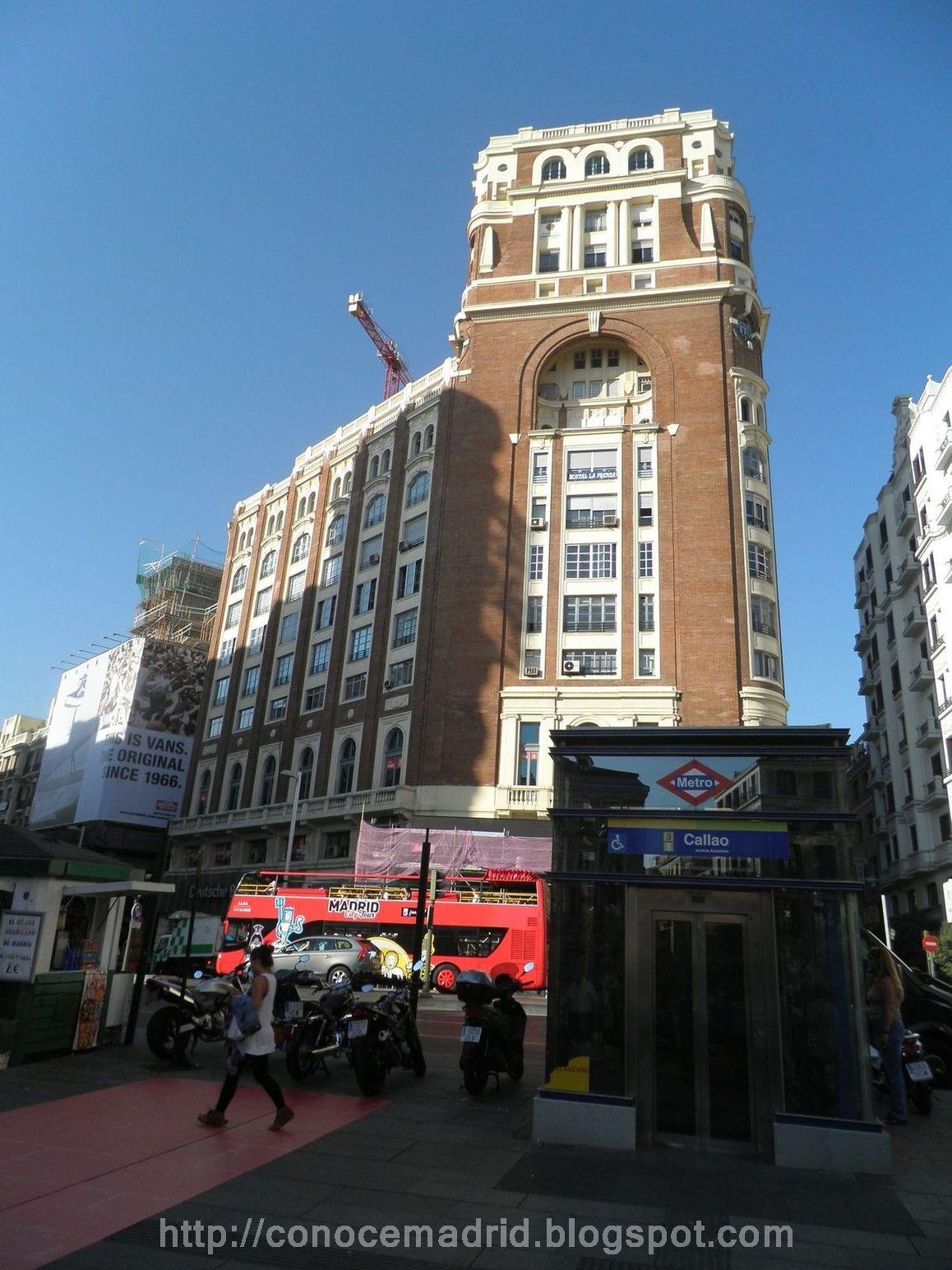 Conocer madrid plaza de callao san mart n y mayor for Oficinas ono madrid