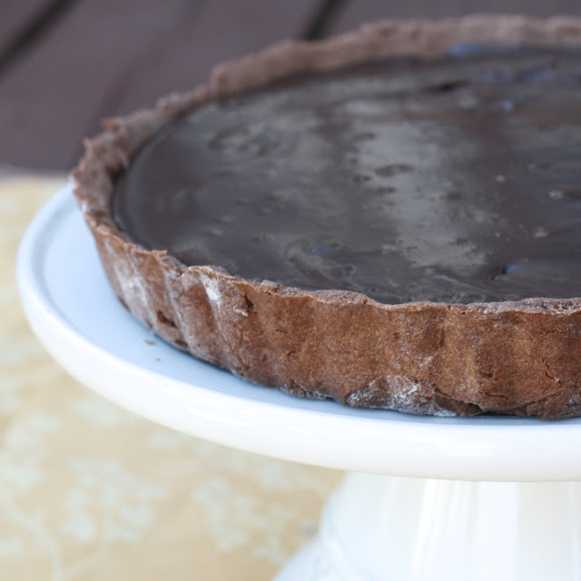 Chocolate Caramel Banana Hazelnut Tart
