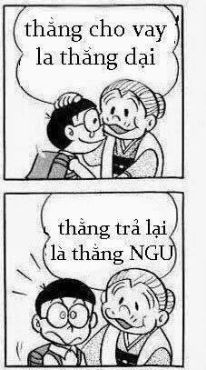 Bài thơ chế về Vay Mượn giữa Nobita và Bà Nội