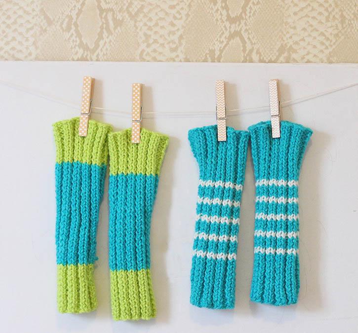 Free Knitting Patterns For Childrens Leg Warmers : Baby Legwarmers [knitting pattern] - Gina Michele