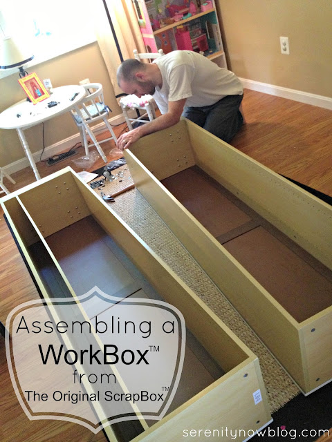 serenity now assembling a scrapbox workbox craft supply. Black Bedroom Furniture Sets. Home Design Ideas