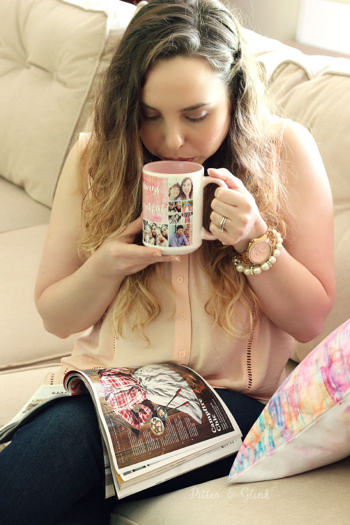 Personalize Your Morning Cup of Coffee with a Shutterfly Photo Mug--Free quote graphic in post! |sponsored| pitterandglink.com