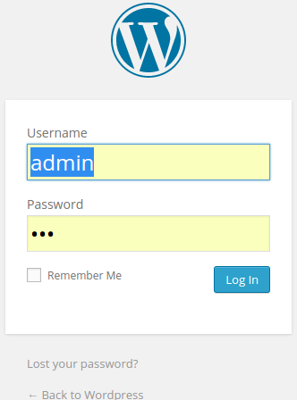 login admin wordpress