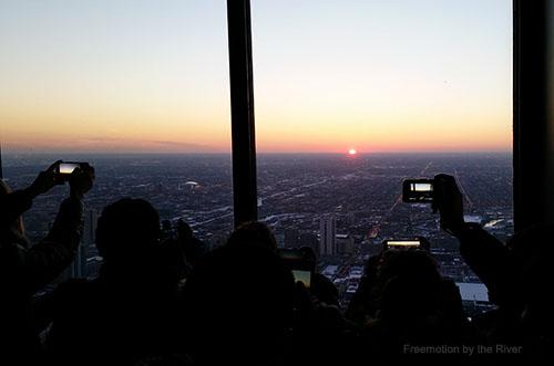 Sunset at 360 Chicago