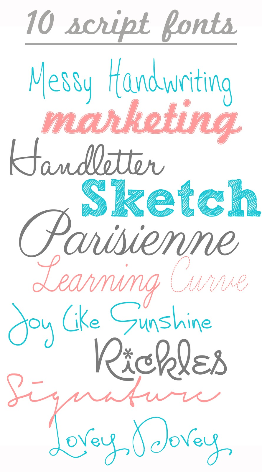 Free script and handwriting fonts color me meg