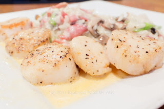 Seared Scallops in Sweet Tobasco Blanc
