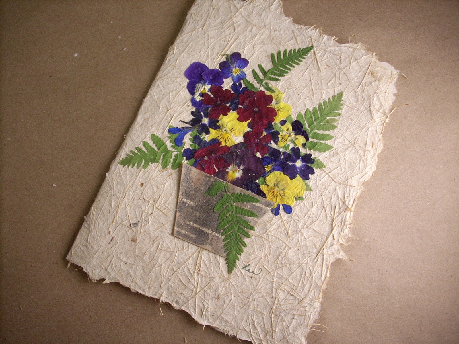 Liz Anna s Studio e a Day in May Day 21 Flower basket card
