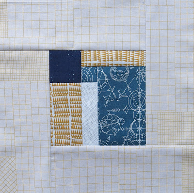 Modern sampler quilt - Block #2 - Inspired by Tula Pink City Sampler