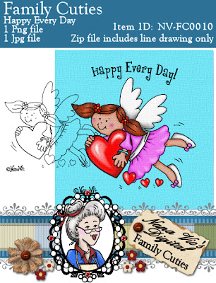 Angel Heart Digital Stamp
