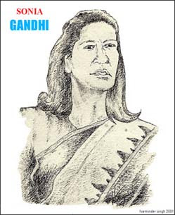 sonia gandhi congress portrait