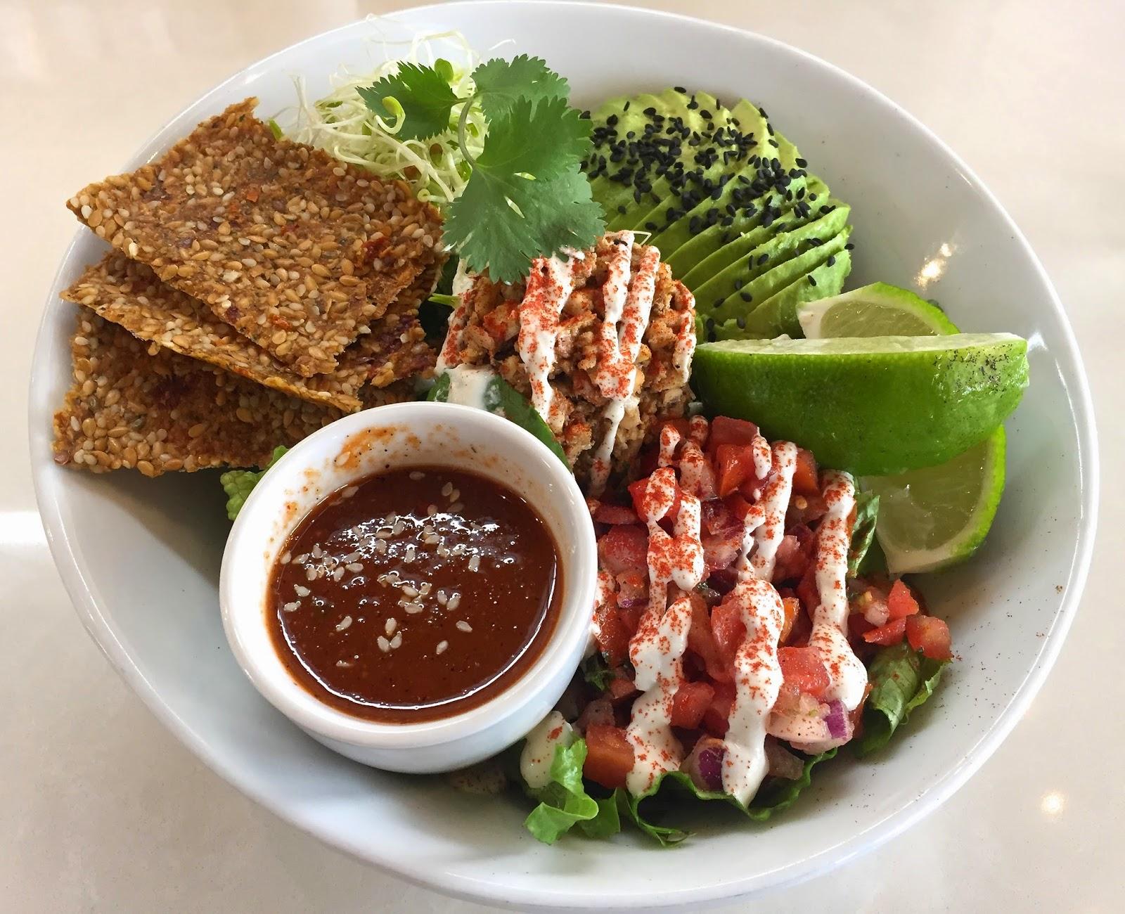 Rawco Taco Salad - Luna's Living Kitchen Charlotte Vegan