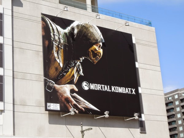 Mortal Kombat X video game billboard
