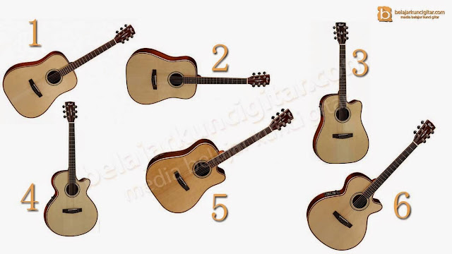 daftar harga gitar akustik cort model AS lengkap