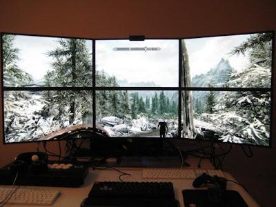 Skyrim on a 6 Monitor Setup