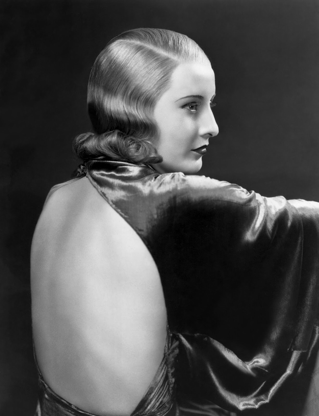 The dangerous, blonde Stanwyck, as she appeared in her
