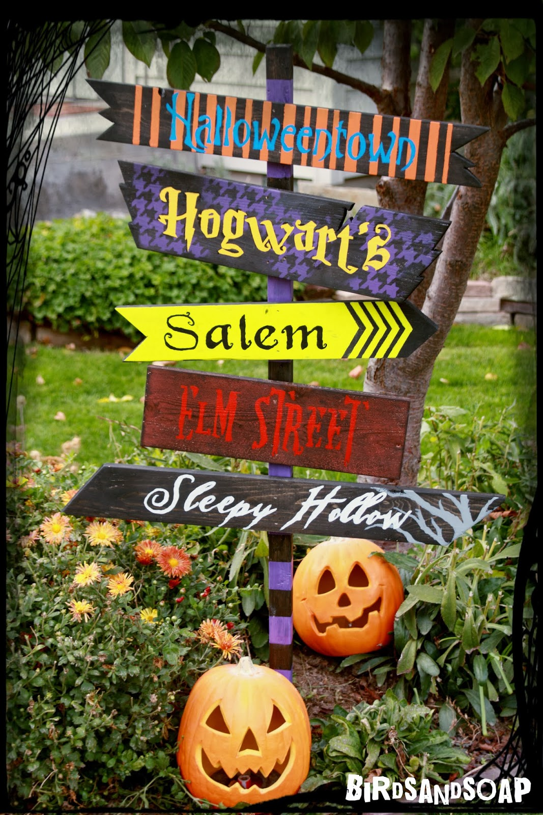 diy halloween yard sign. Black Bedroom Furniture Sets. Home Design Ideas